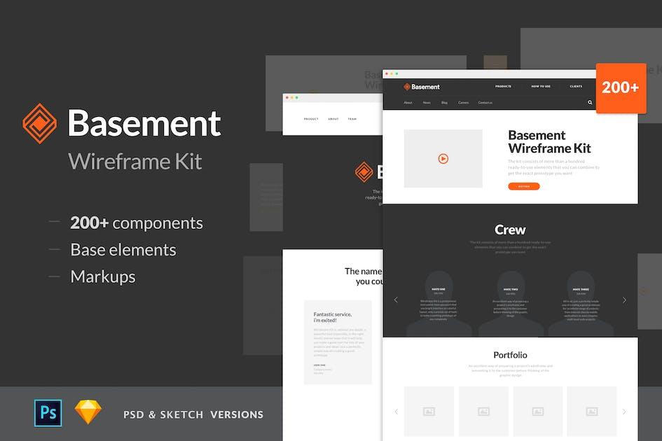 Download Basement Wireframe Kit by greatsimple