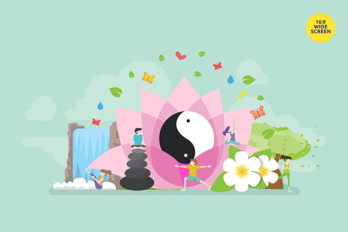 Thumbnail for Yoga Relaxation Meditation Vector Concept