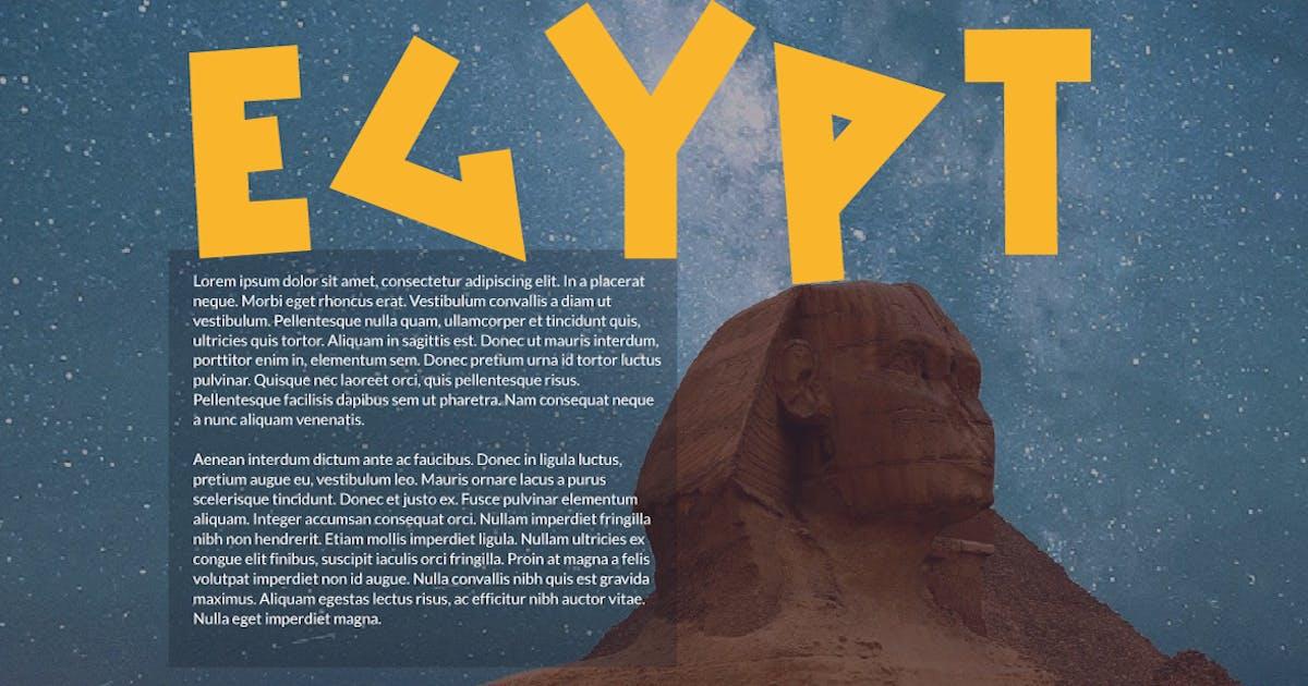Download Egypt font by sukmaraga