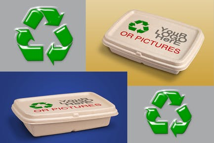 Recycling Delivery Packaging-Mockup
