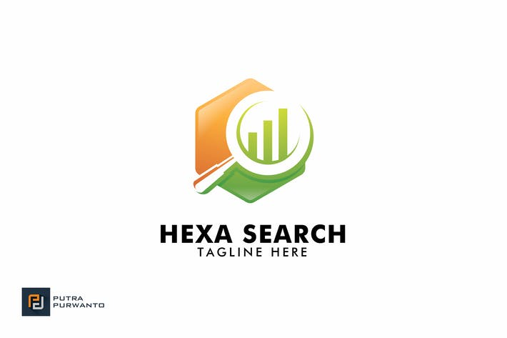 Thumbnail for Hexa Search - Logo Template