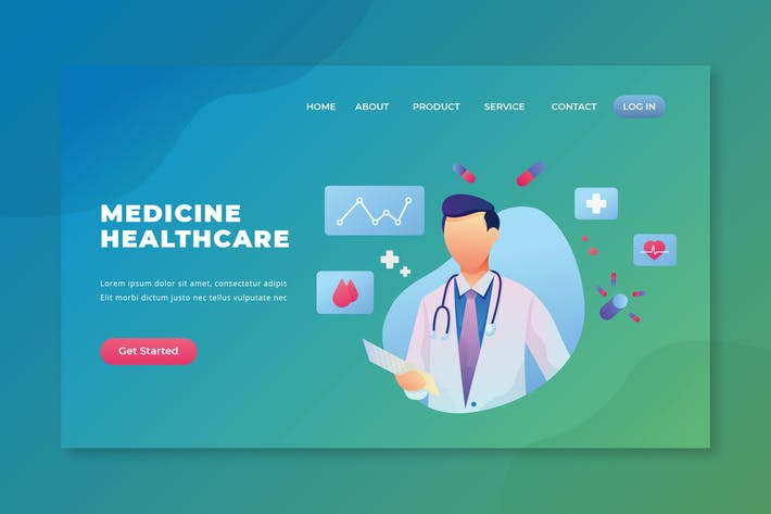 Thumbnail for Medicine Healthcare - PSD and AI Landing Page