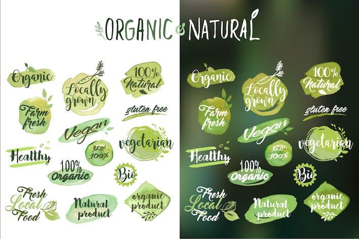 Thumbnail for Autocollants et badges alimentaires bio