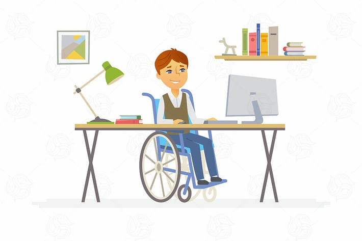 Thumbnail for Online education - vector illustration