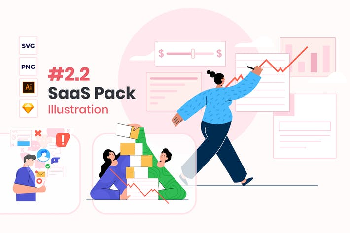 Thumbnail for Saas Illustration Pack