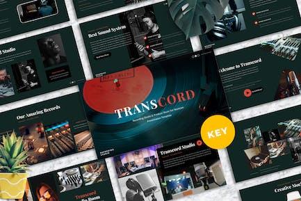 Transcord - Recording Studio Keynote Templates