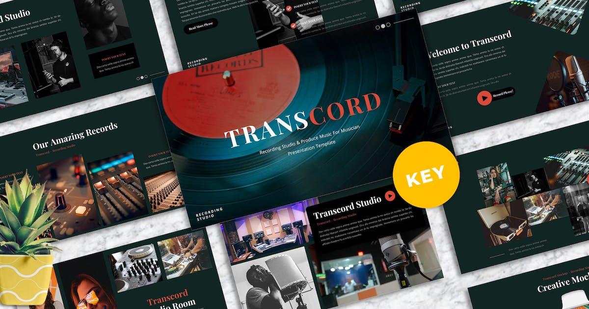 Download Transcord - Recording Studio Keynote Templates by Yumnacreative