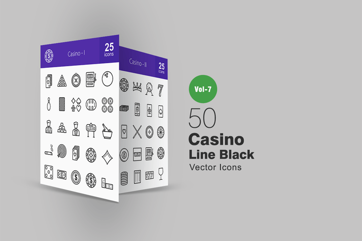 Thumbnail for 50 Casino Line Icons