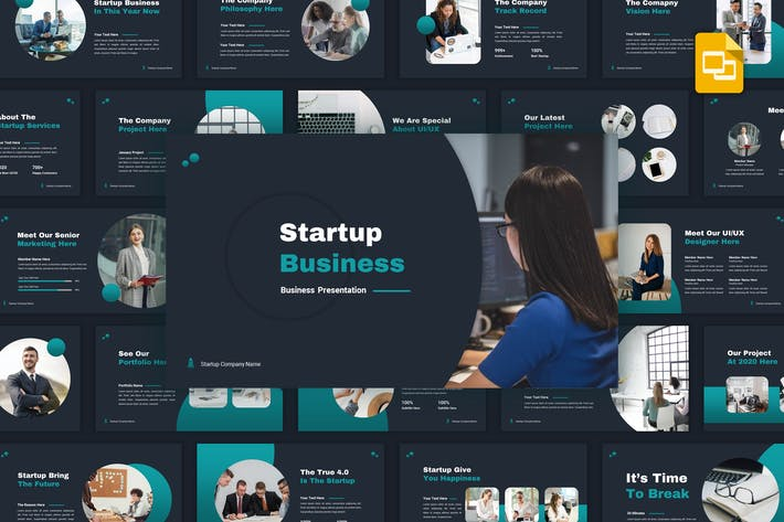 Thumbnail for Startup - Business Google Slides Template