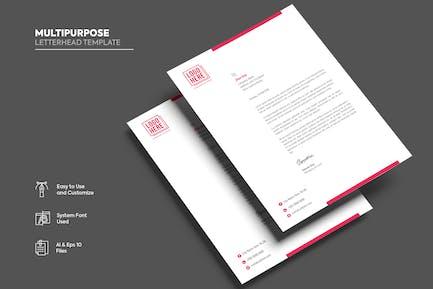 Multipurpose Letterhead template.09