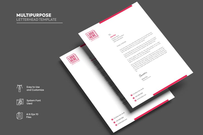 Thumbnail for Multipurpose Letterhead template.09