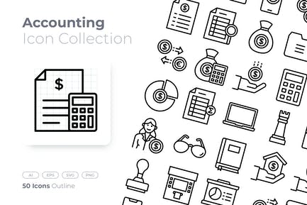 Accounting Outline Icon