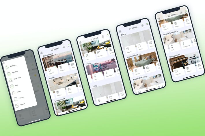 All Rooms Smarthome Mobile UI - FP