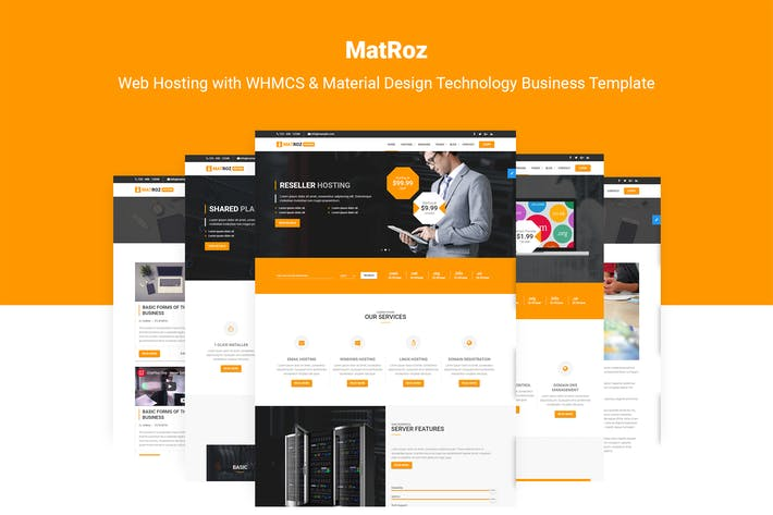 Thumbnail for MatRoz | Hosting & Technology Business Template