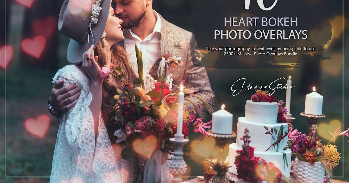 Download 10 Heart Bokeh Photo Overlays by Eldamar_Studio