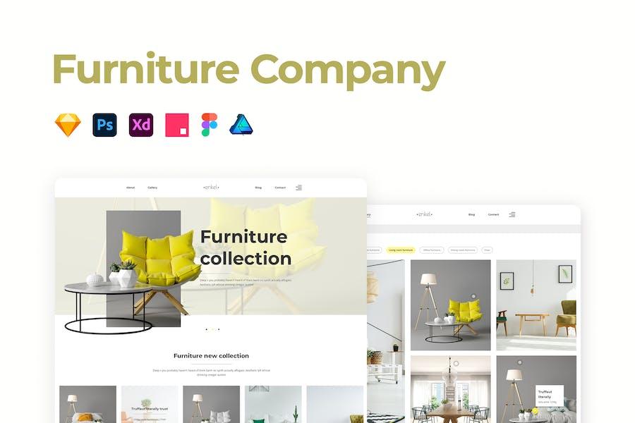 Furniture Company Template