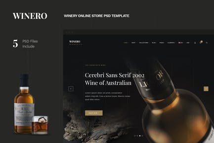 Winero - Winery Online Store PSD Template