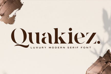 Quakiez - Lujo Moderno Con serifa