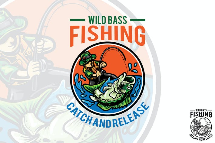 Thumbnail for Fishing Vector Logo Mascot