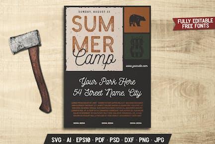 Summer Camp Retro Flyer
