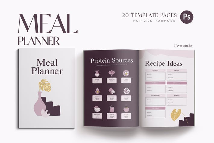 Thumbnail for Meal & Grocery Workbook Planner for Coach