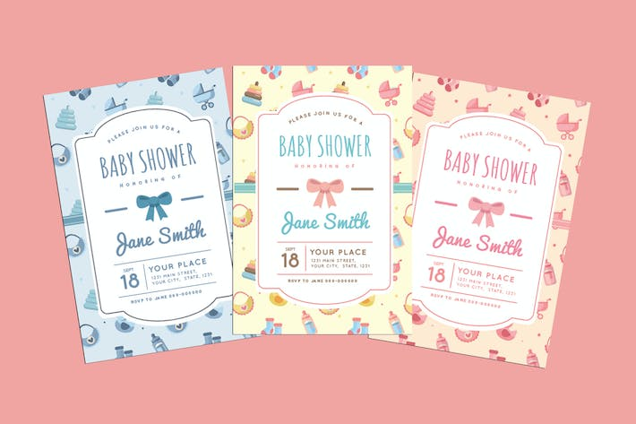 Cover Image For Baby Shower Invitation