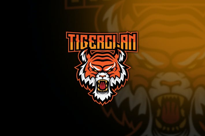Thumbnail for Tiger Clan Esport Logo Template