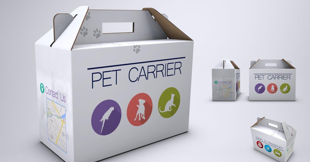 Download Pet Carrier Cardboard Box Mock-Up by Sanchi477