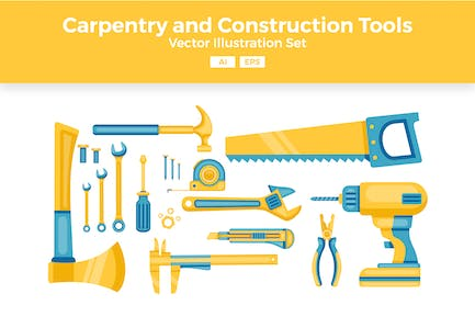 Carpentry and Construction Tools Vector Set