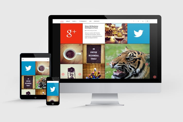 Thumbnail for Multi Devices Responsive Web Mockups Pack