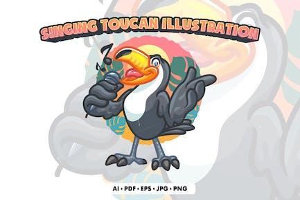 Singing Toucan Illustration