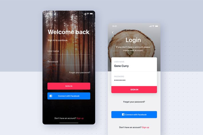 Thumbnail for Sign In - Sign Up Mobile Interface Template