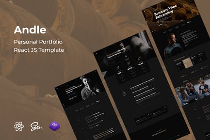 Andle - Personal Portfolio React JS Template