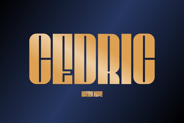 Thumbnail for CEDRIC - Classy Condensed Font