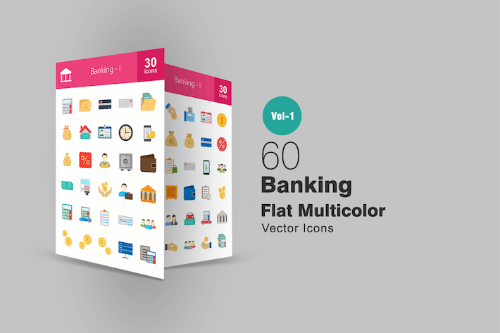 Thumbnail for 60 Banking Flat Multicolor Icons