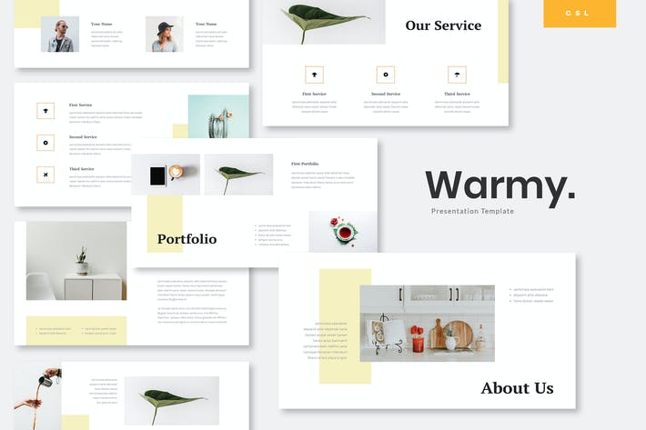 Thumbnail for Warmy - Minimalist Google Slides Template
