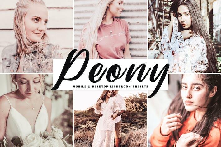 Thumbnail for Peony Mobile & Desktop Lightroom Presets