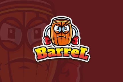 barrel - Mascot Logo