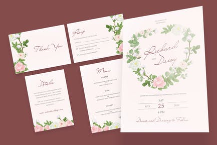 Romantic Rose Wedding Invitation