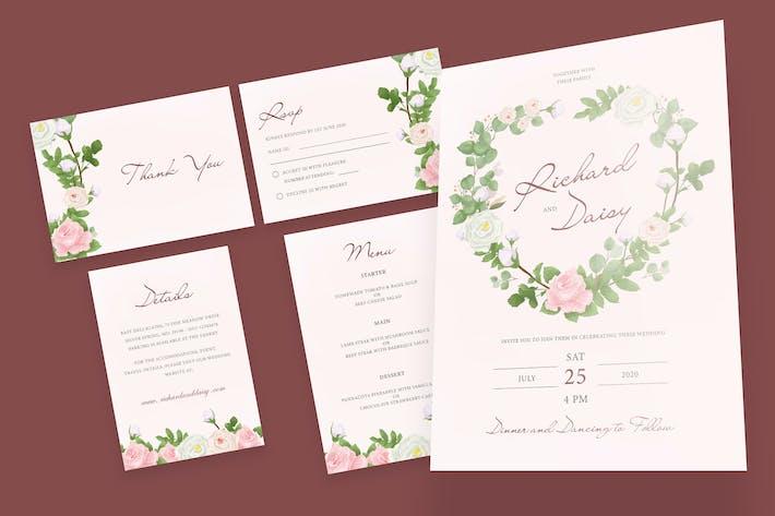 Thumbnail for Romantic Rose Wedding Invitation