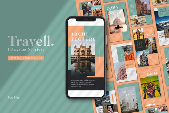 Thumbnail for Travel Promotion Instagram Stories Template