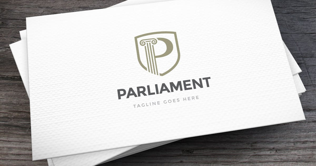 Download Parliament Letter P Logo Template by empativo