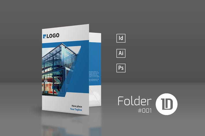 Thumbnail for Presentation Folder Template 001