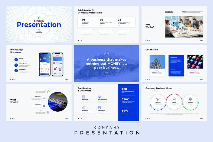 Thumbnail for Company Presentation PowerPoint Template