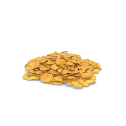 Piles of Corn Flakes Pieces