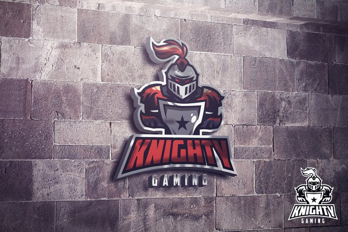 Thumbnail for Noble Knight Mascot Esports Logo