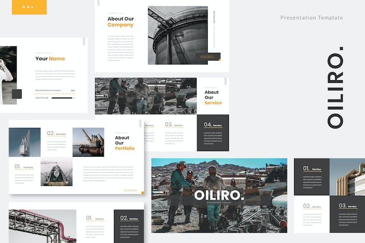 Thumbnail for Oiliro - Нефтяная промышленность Google слайды Шаблон