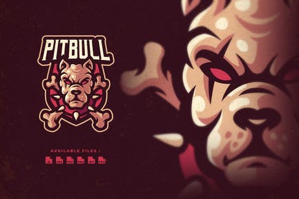 Pitbull Character Esport Logo