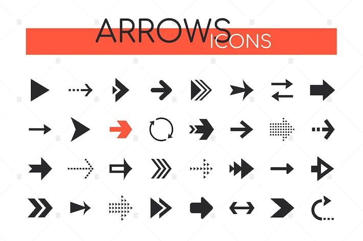 Thumbnail for Arrows collection - set of navigational elements