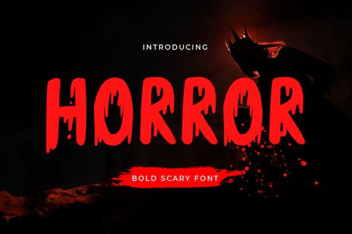 Horror - Bold Scary Font
